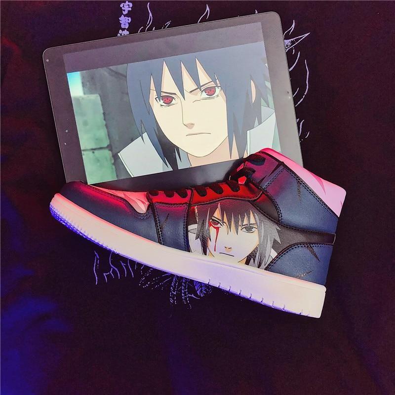 Photo of Naruto Shoes Men Anime Shoes Akatsuki Pain Casual Shoes Senju Hashirama Canvas Shoes Itachi Sasuke Sneakers Kakashi Women shoes (Hashirama 12 43)