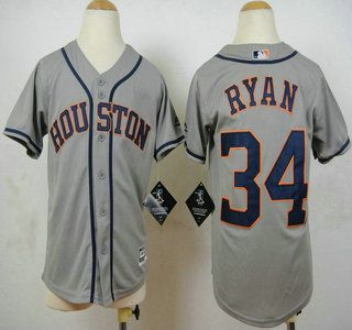 3f5d9e8bc shopping youth houston astros jersey 34 nolan ryan grey 2015 mlb cool base  jerseys 1b498 615bf