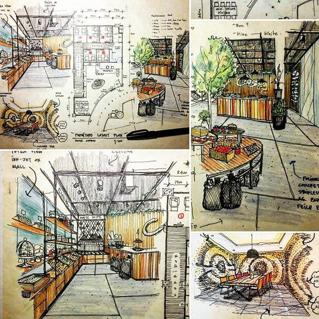 #sketch #drawing #handdrawing #floorplan #perspective # ...