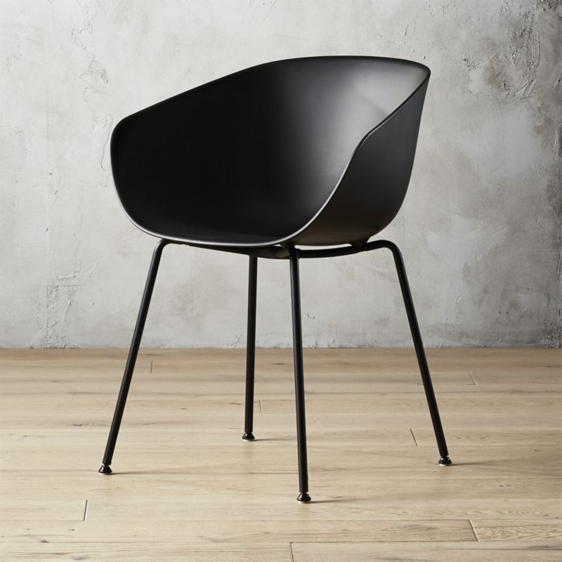 Black Plastic Chair With Wooden Legs Style Chairs Shop Poppy Matte Molds Modern To Offer Unexpected Comfort Italian Made Sits Chic On Four Steel