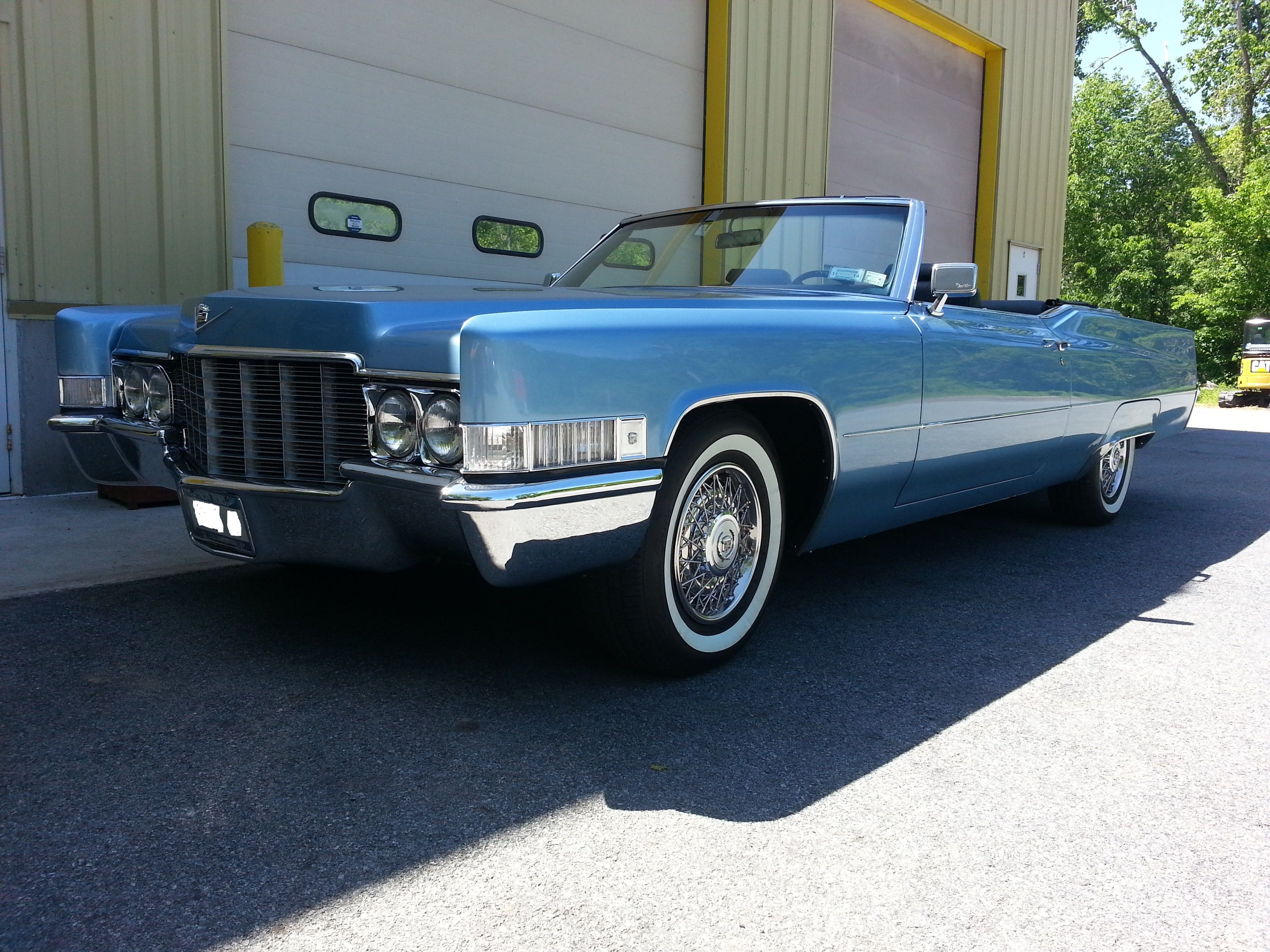 1969 cadillac deville convertible in for some interior restoration installed nos steering wheel restored