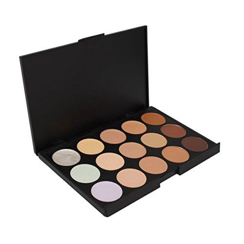 FantasyDay Pro 15 Colors Cream Concealer Camouflage Makeup Palette Contouring Kit 1  Ideal for Professional and Daily Use *** Read more reviews of the product by visiting the link on the image.