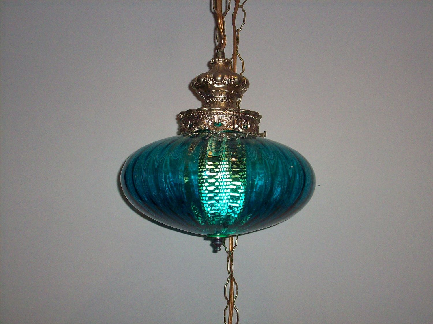 Vintage Blue Turquoise 1960u0027s Swag Light. $195.00 via Etsy. & Vintage Blue Turquoise 1960u0027s Swag Light. $195.00 via Etsy. | For ... azcodes.com