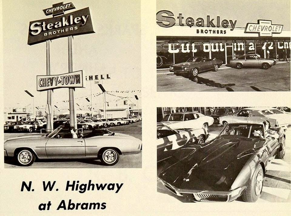 Steakley Chevrolet Abrams And Northwest Highway The Dealership Closed Years Ago But The Structures Are Still There And The Corner Chevrolet Car Photos Camaro