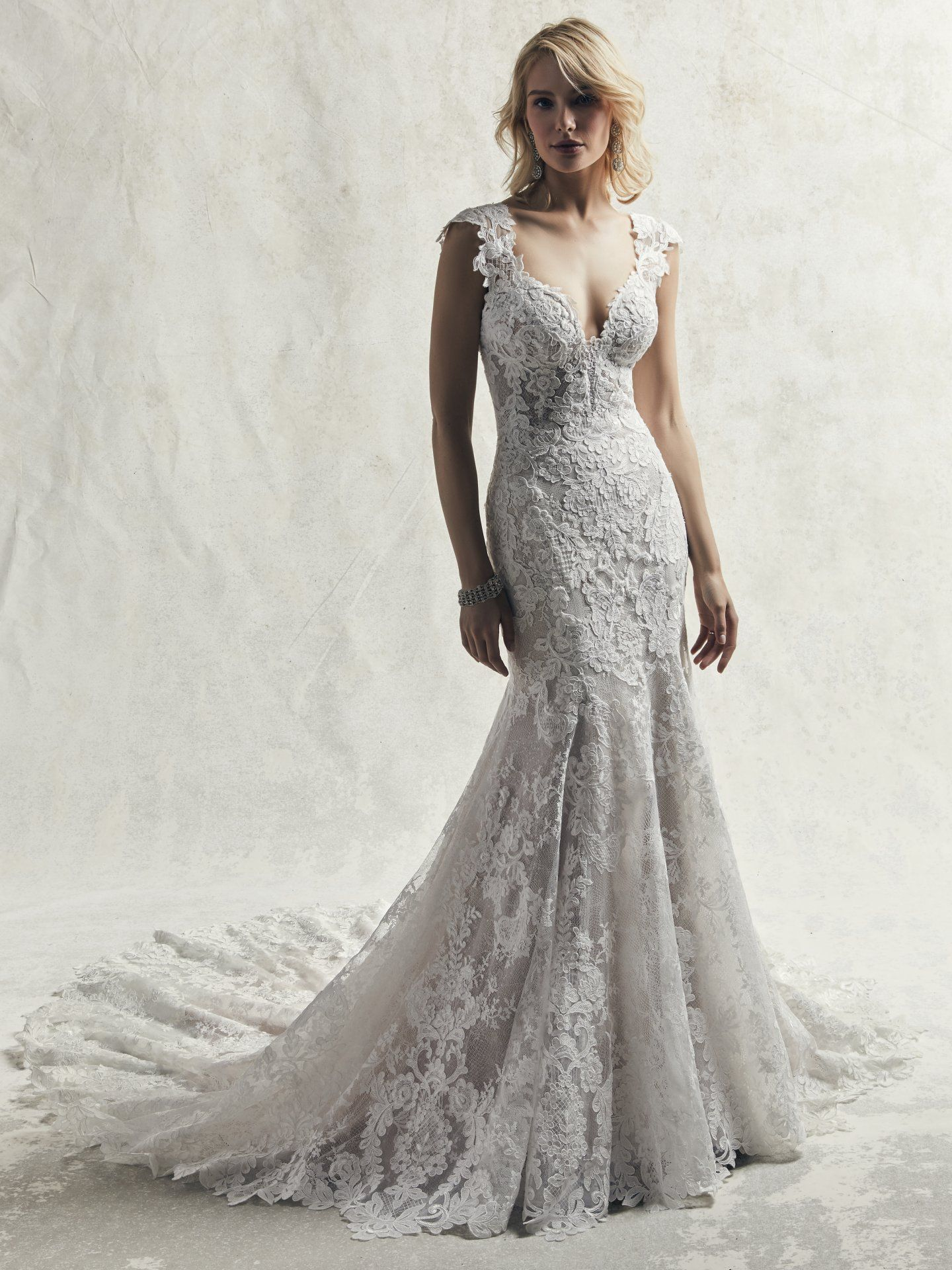 abaf61033a8 Chauncey Wedding Dress by Sottero   Midgley An ultra-romantic lace wedding  gown