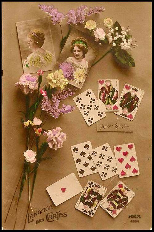 Langage des Cartes Amour Sincre  Language of the Cards Sincere Love