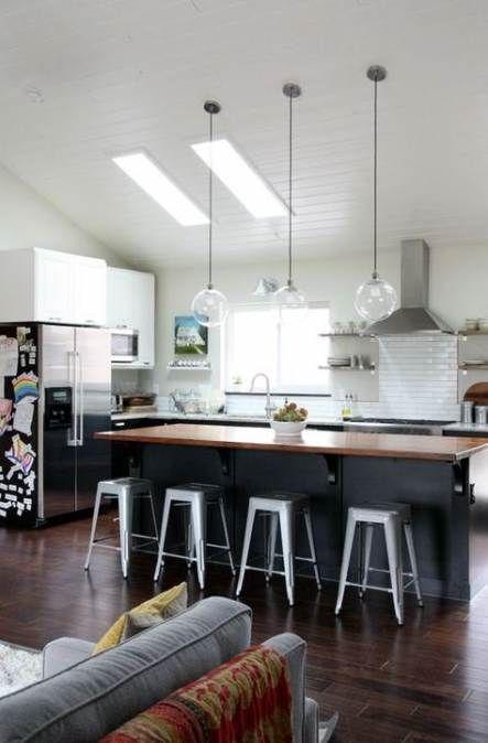 57+ trendy kitchen island lighting vaulted ceiling pendants #vaultedceilingdecor