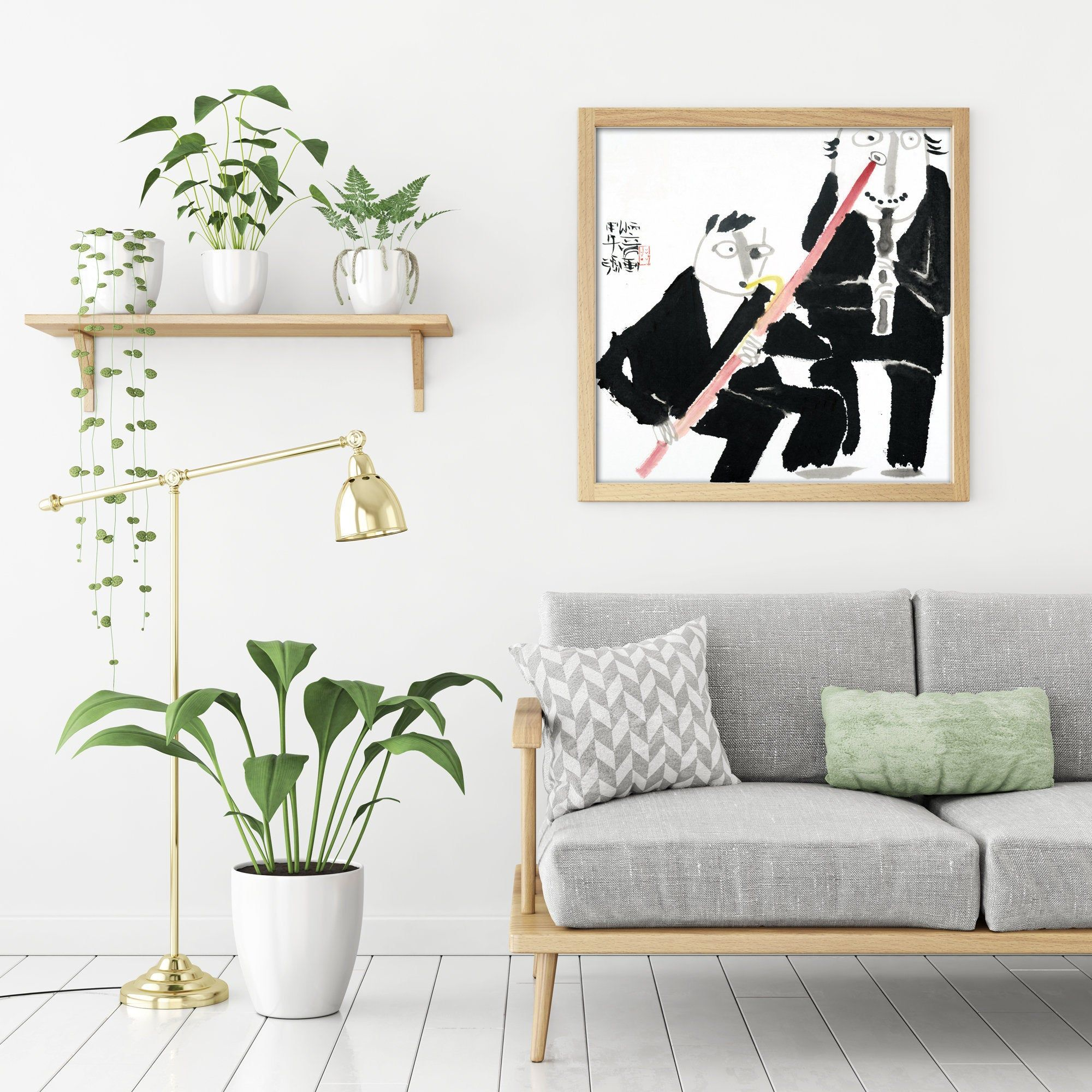 Orchestra Painting Prints Oriental Painting Wall Art Oriental Etsy In 2020 Minimalist Wall Art Flower Wall Art Wall Art