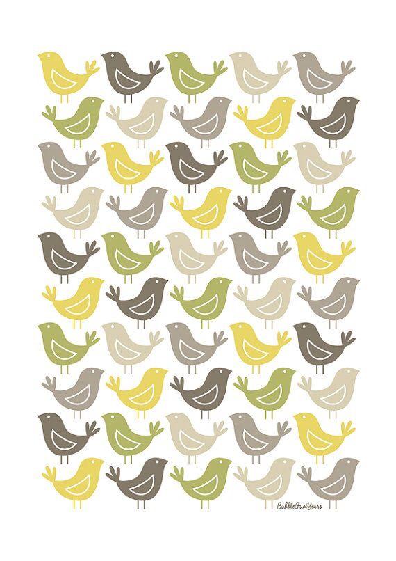 Birds. Bubble Gum Years - ETSY