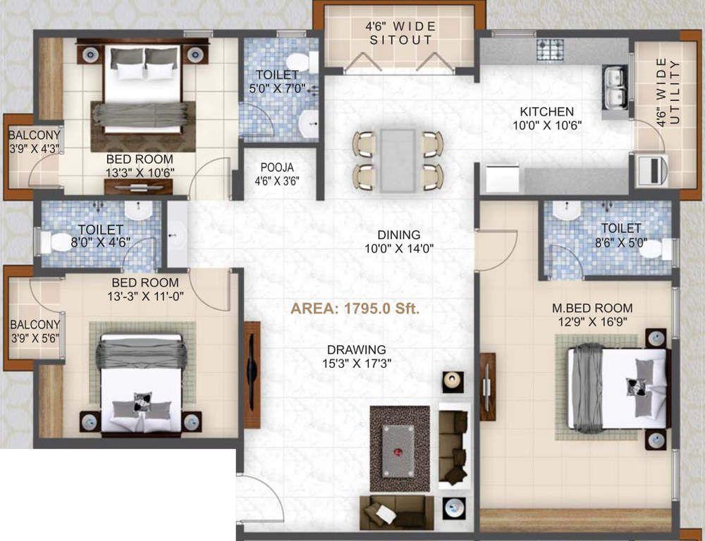 Dharma Construction Residency Banaswadi Bangalore My House Plans House Layout Plans Model House Plan
