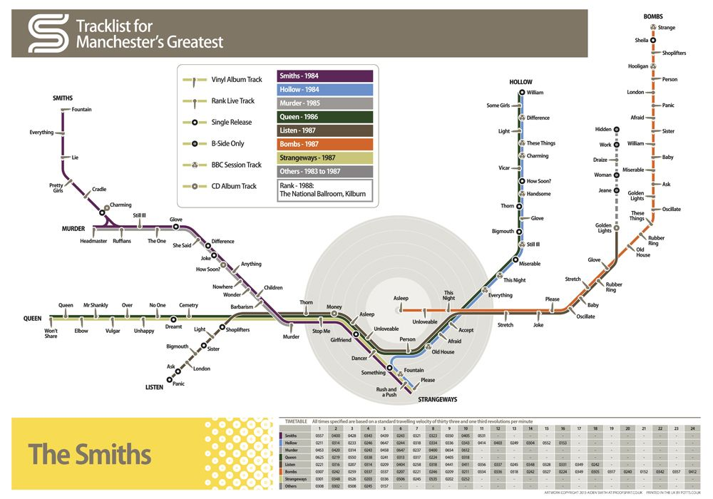 The Smiths Manchester Tram Map Map Obsession Cartography