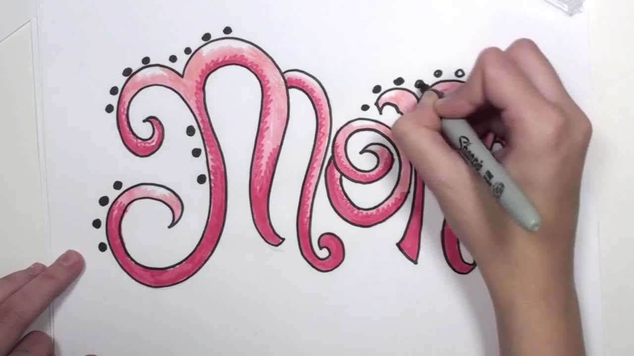 How To Draw Graffiti Letters Mom Mlt  The Wonders Of Crafting