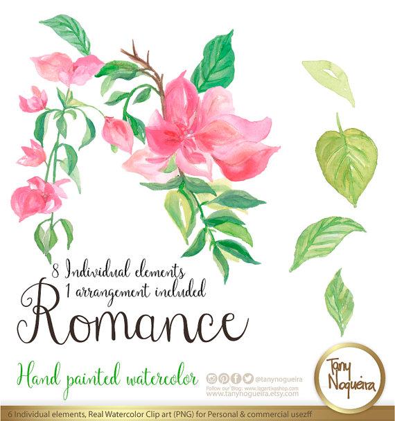 Romance Watercolor Floral Wedding Elements Clipart PNG Blue Flowers Spring Rustic Arrangement Posies Bouquet For Invitations