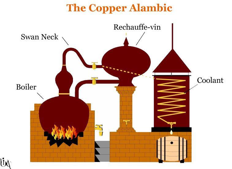 the copper alambic diagram cognac the. Black Bedroom Furniture Sets. Home Design Ideas