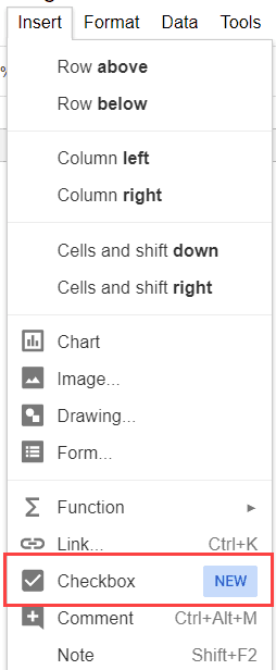 Insert Checkbox In Google Sheets Checkmark Option In Drop Down