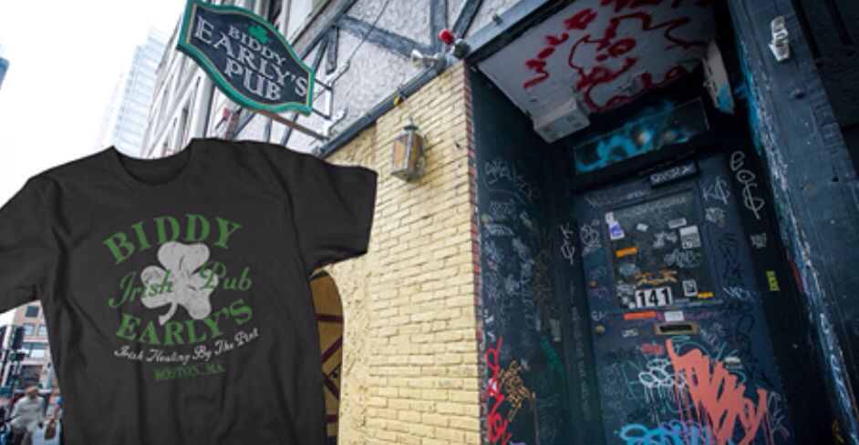 Biddy Early S Irish Pub In Boston Massachusetts Divebarshirtclub Com Bar Shirt Base Shirt Mens Tops