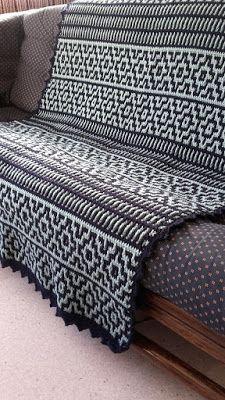 ANNA'S HAAKWERK: tweede deken mozaïek haken / mosaic crochet #haken