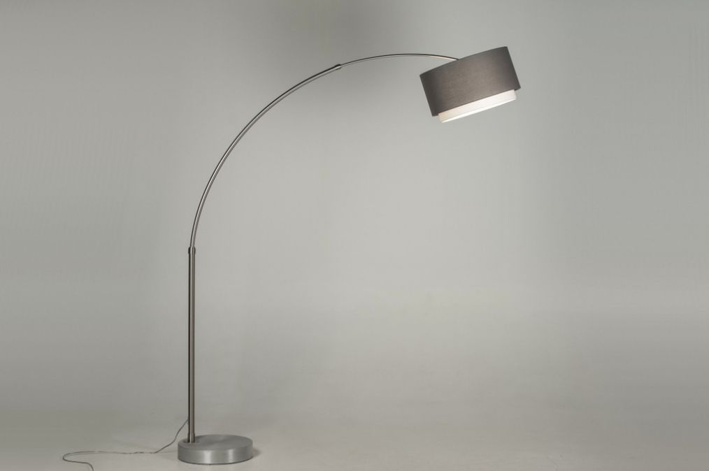 Staande Lamp Landelijk : Vloerlamp modern design staal rvs booglampen en