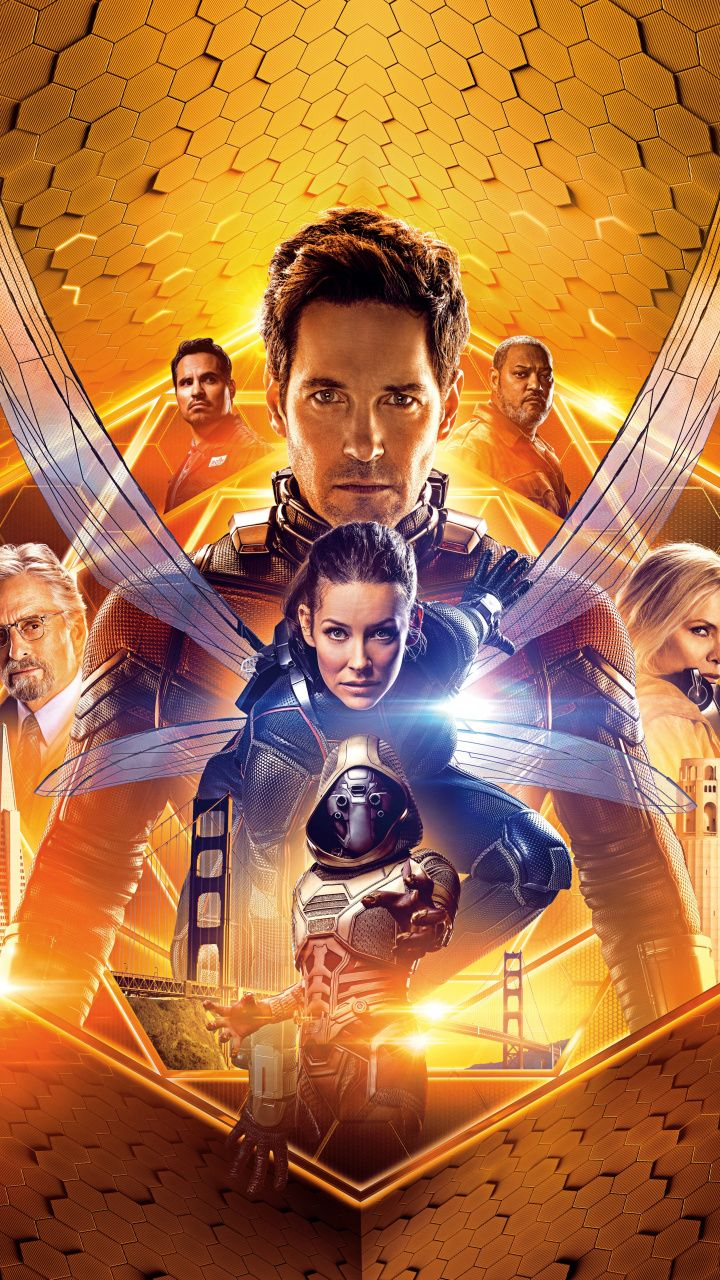 Antman and The Wasp, movie, poster, 720x1280 wallpaper  Antman  Pinterest  Le cinéma