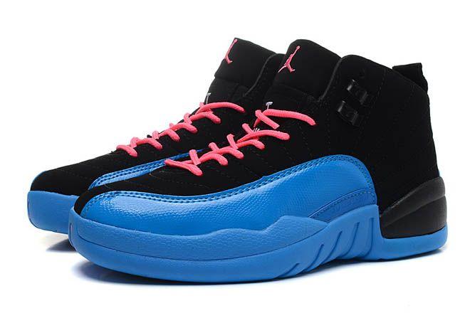 cheap for discount 1ed70 ca02d ... sale jordan brand womens air retro 12 gamma blue black gym red gamma  blue basketball shoe