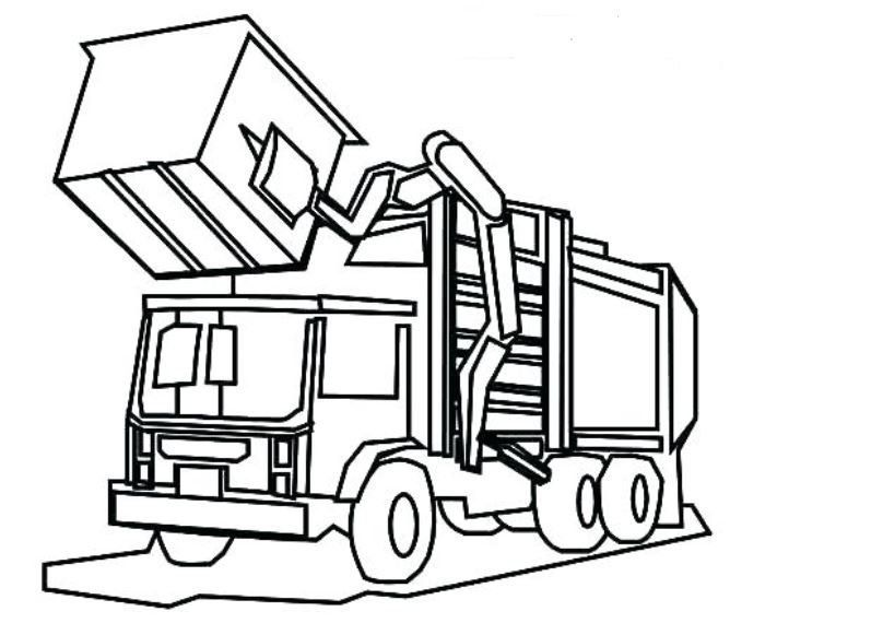 Garbage Truck Coloring Pages Printable Truck Coloring Pages Coloring Pages Inspirational Monster Truck Coloring Pages
