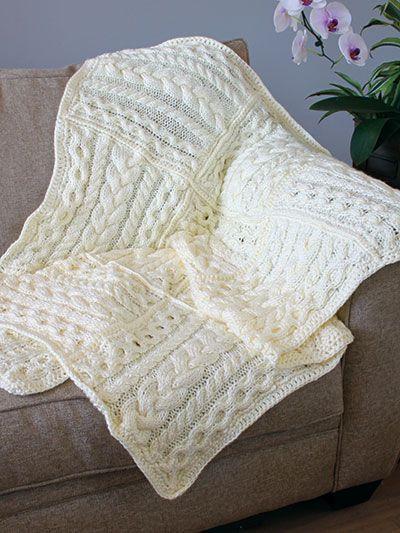 Cable Afghan Knitting Patterns | DOS: AGUJAS COBIJA BEBE | Pinterest ...