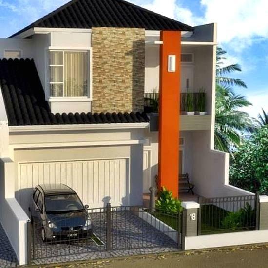 Model Rumah Minimalis 2 Lantai Sederhana Type 45 Rumah Minimalis Rumah Desain Rumah Minimalis