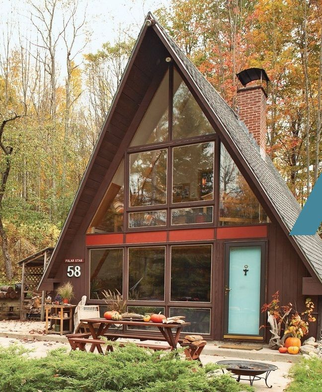 Vintage A-Frame Cabin | Future home | Pinterest | Hütten, Wolle und ...
