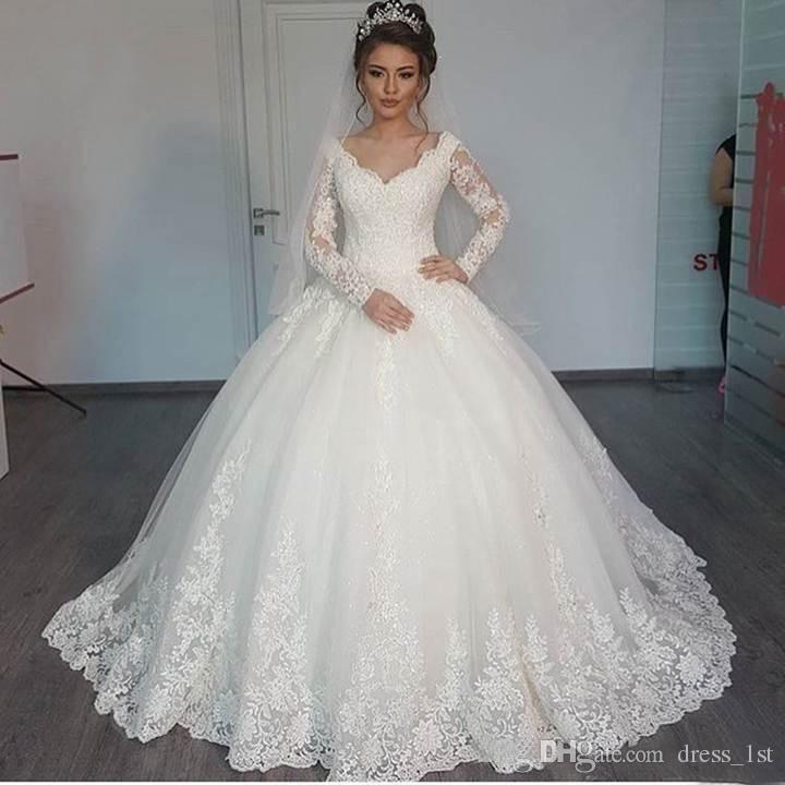 Großhandel 2016 Preiswerte Wulstige Arabische Hochzeit Ballkleider ...