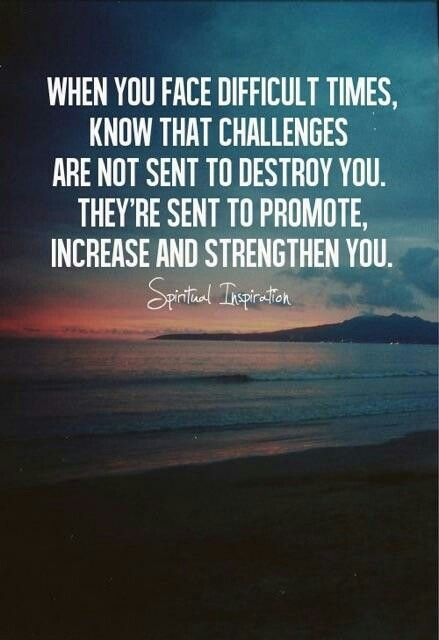 Quotes About Challenges Simple Trials Strengthen You  From Lily  Pinterest