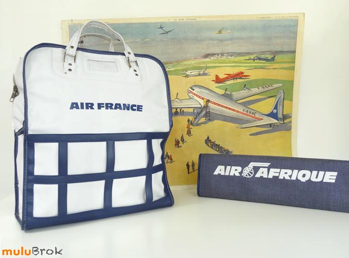 code promo d019f bf057 Vintage, sac de voyage AIR FRANCE et AIR AFRIQUE Hôtesse de ...