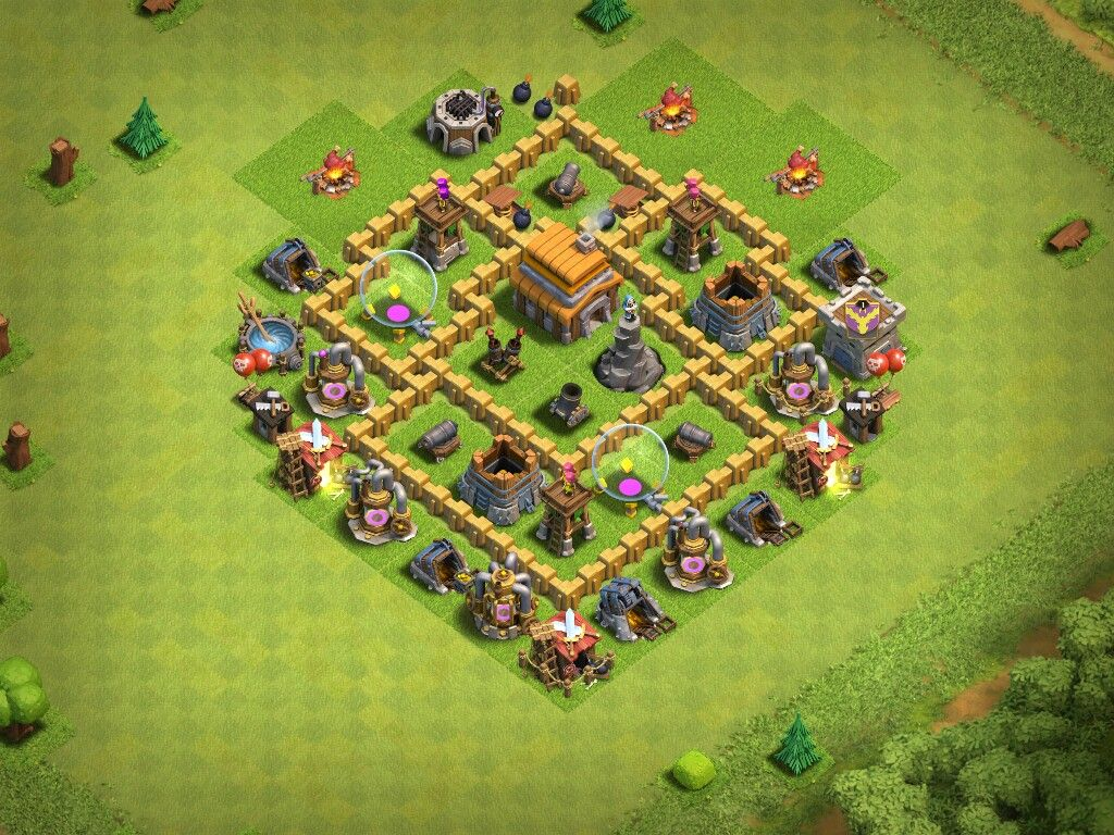 My Base Layout In Clash Of Clans With A Level 5 Town Hall Clash Of
