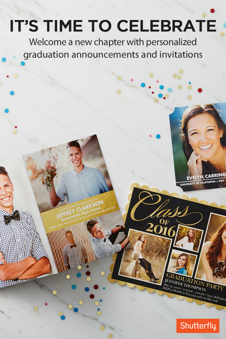 Share your joy and success with your loved ones with Shutterfly\'s ...