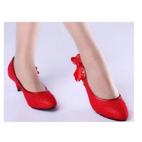 The Bride Wedding Shoes Silver With Red Dress Lady High Heeled Chinese From Madeinchina Wholer On