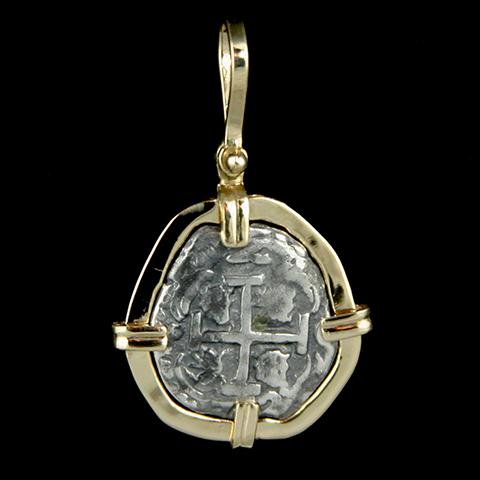 Small Pieces of 8 Silver Coin Pendant Atocha Sunken Tresure Jewelry