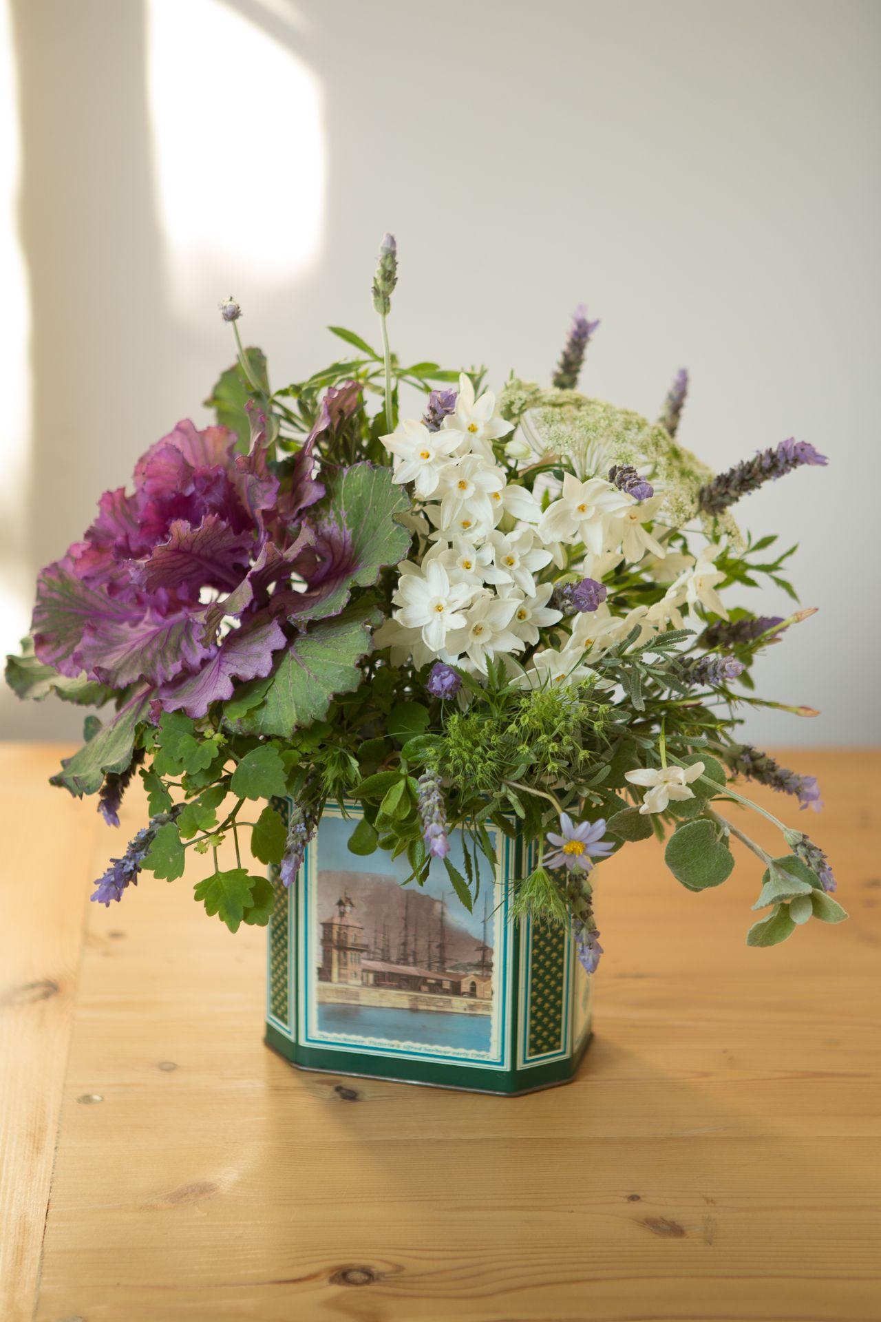 Vintage Tin Floral Arrangements Vintage Flower Arrangements Flower Arrangements Floral Arrangements