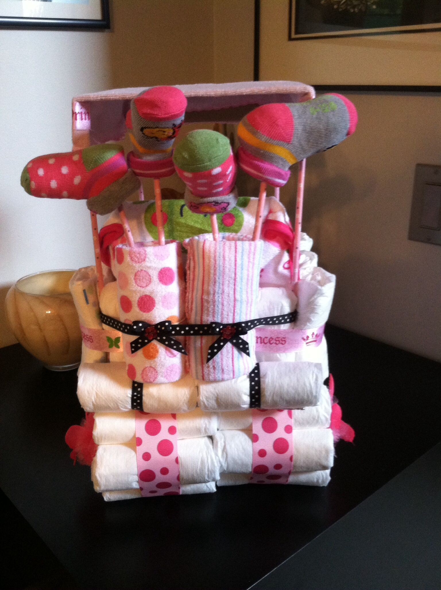 Baby Showers Diaper Bouquet Diaper Golf Cart Cake