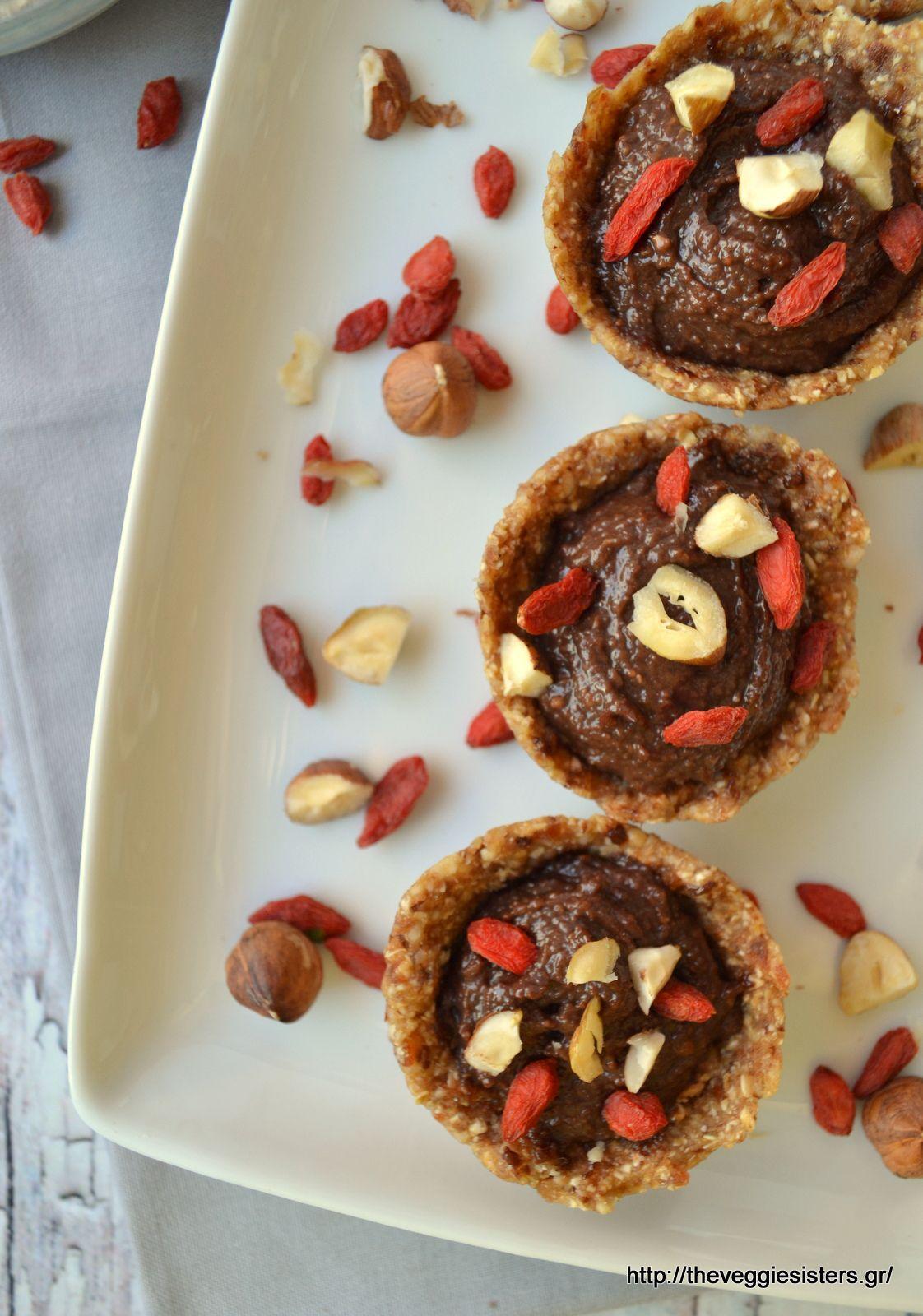 No bake healthy nutella mini tarts: decadent wholesome bites!