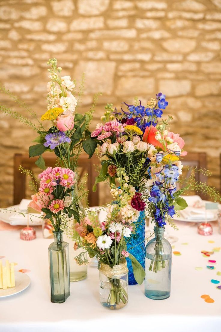 A Bride Wearing Glasses for her Sweet, Spring Wedding full of Colour and Charm  - Wedding decor -