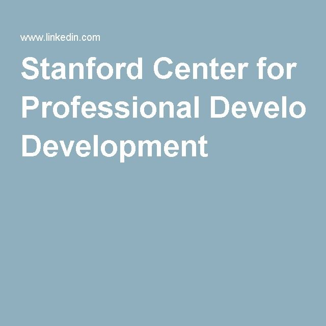 Stanford Center For Professional Development Professional