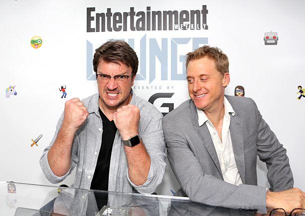 Comic-Con 2015: Celebs make the rounds, Day 1 | Nathan Fillion and Alan Tudyk | EW.com