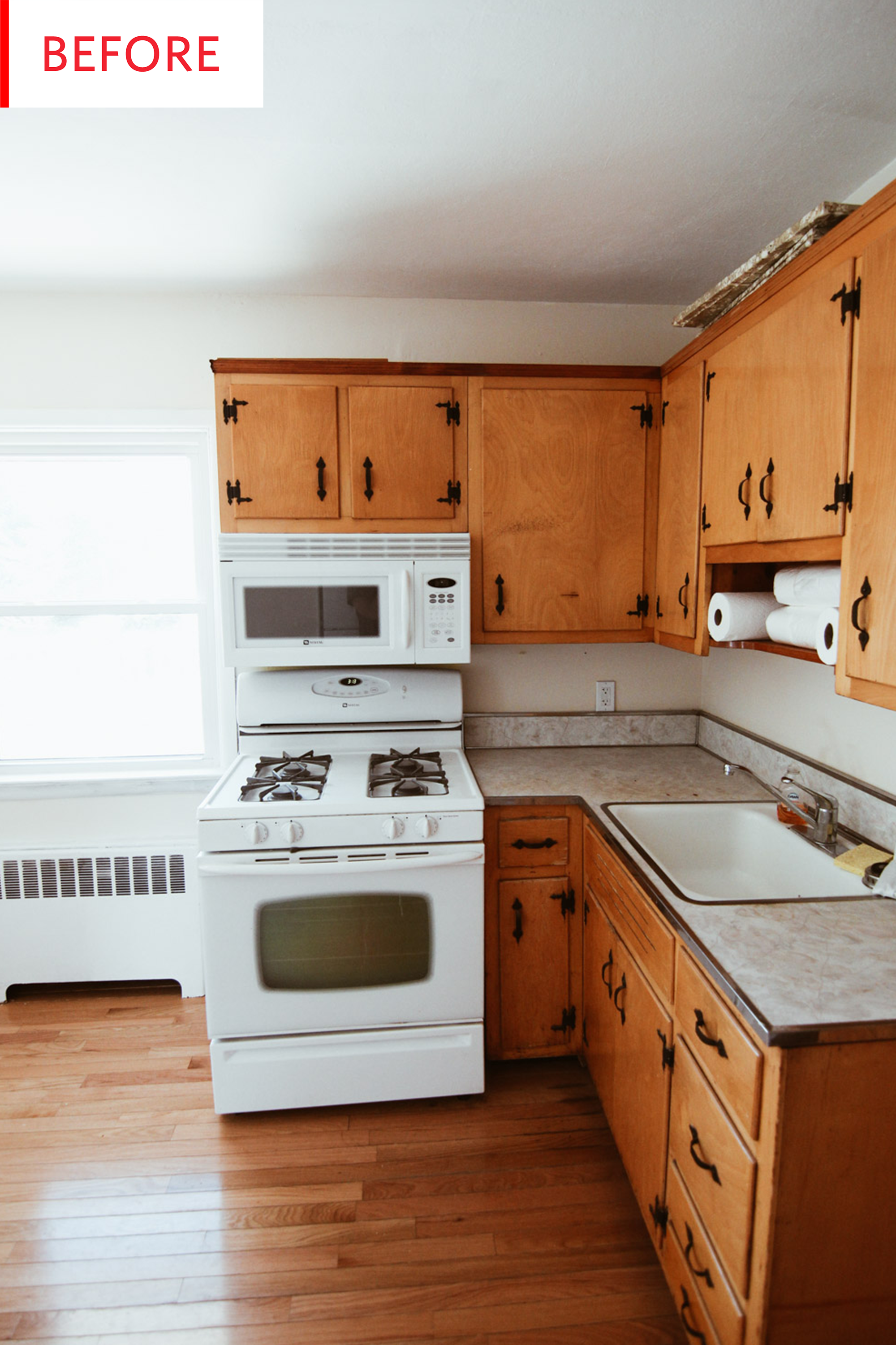 Before And After The Secret To Successfully Painting Old Kitchen Cabinets Shabby Chic Kitchen Cabinets Budget Kitchen Remodel Kitchen Cabinets Makeover