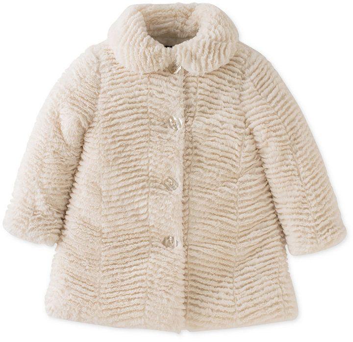Shopstyle Girls Faux Fur Coat Calvin Klein Baby Fur Coat