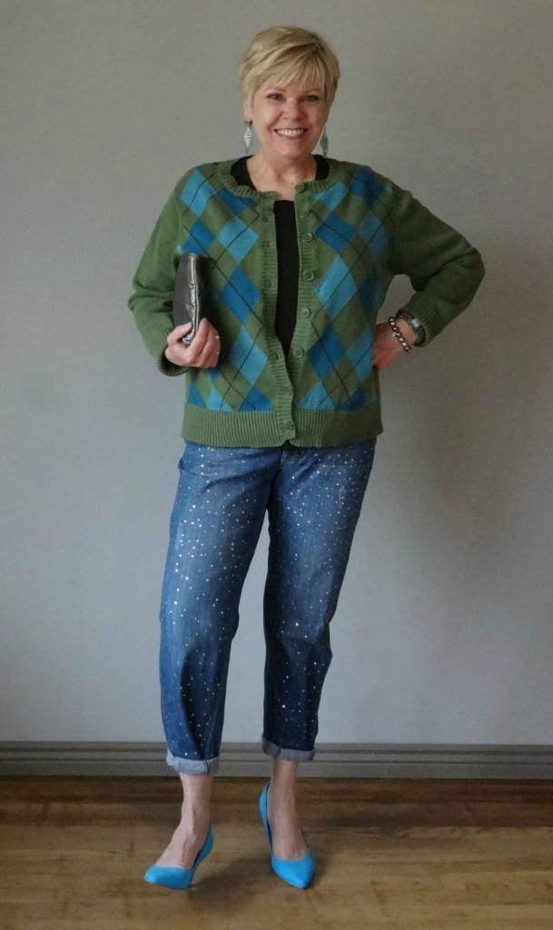 Renea in blues and greens from Simple sequins.