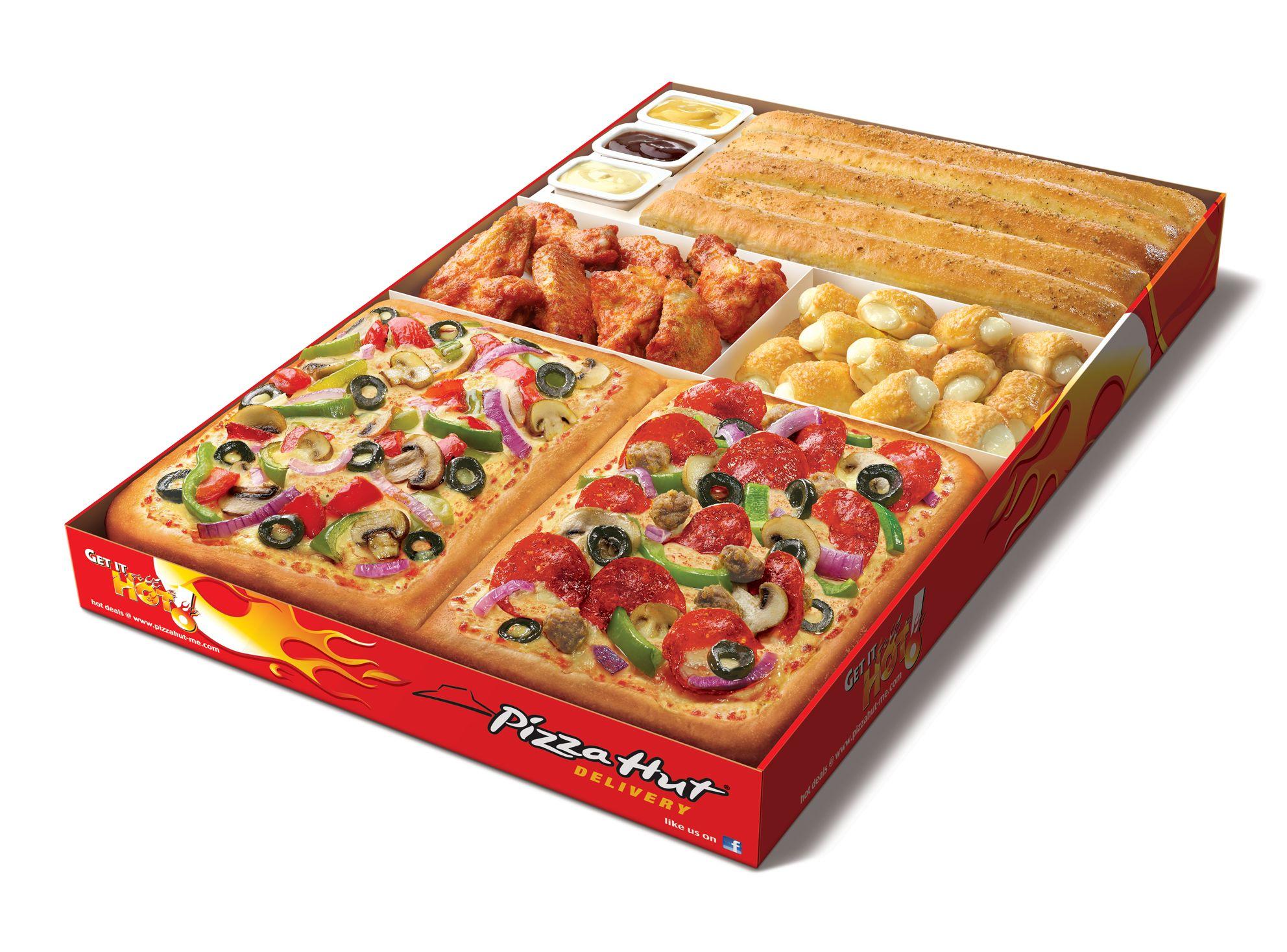 All In One Box Pizza Hut Pizza 5 Dollar Box