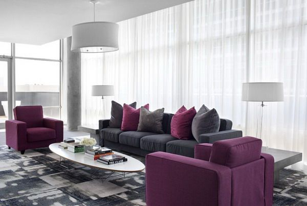 Best Home Modern Living Room Designs With Gray And Maroon Living Purple Living Room Living Room Grey Grey Furniture Living Room
