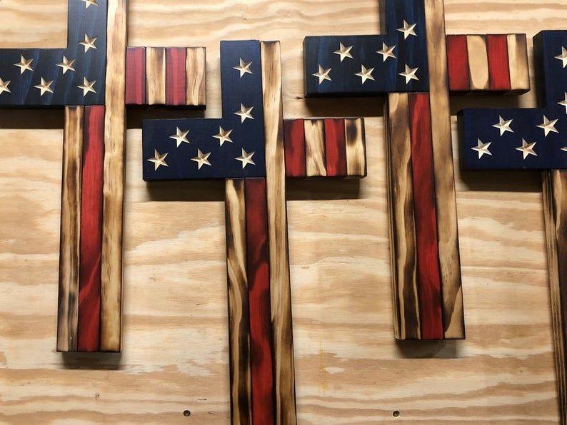 American flag cross in 2020 american flag wood american