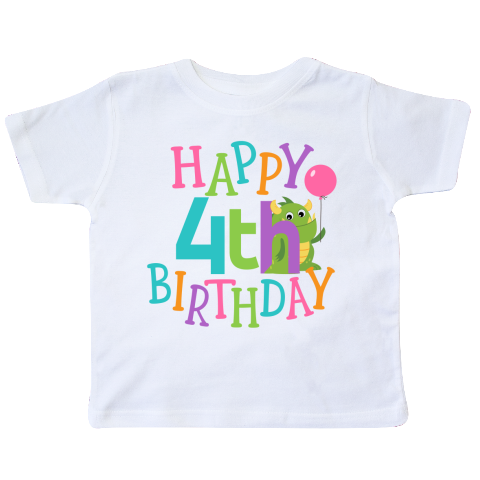 inktastic 4th Birthday Outfit Unicorn Toddler T-Shirt