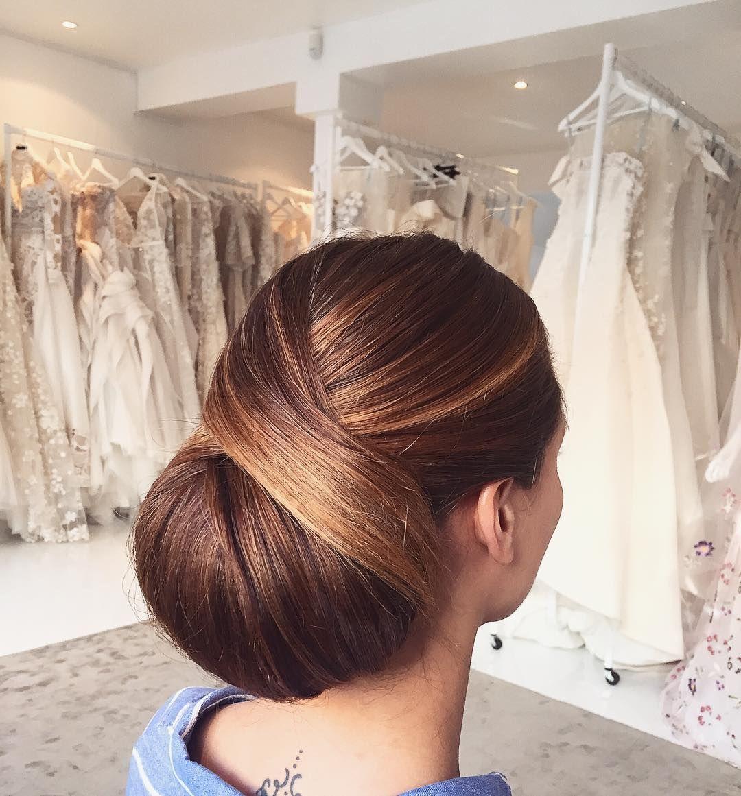 Classic chignon updo wedding hairstylesupdo hairstylesmessy updos