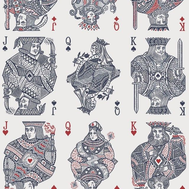court cards for Joker and the Thief  #king #queen #spades #crown # skull #snake…